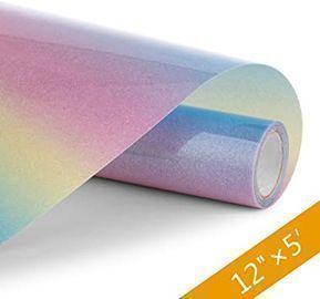 Rainbow Glitter Heat Transfer Vinyl, 5'x12