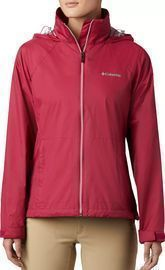 Columbia Women's Switchback Rain Jacket, Red Orchid