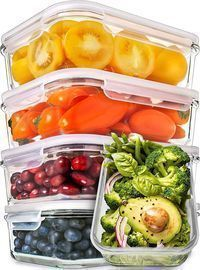 Prep Naturals Glass Meal Prep 30-oz. Containers 5-Pack