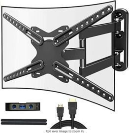 Full Motion TV Wall Mount - Fits 28-72 TV