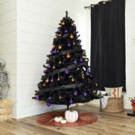 Black Artificial 6' Christmas Tree