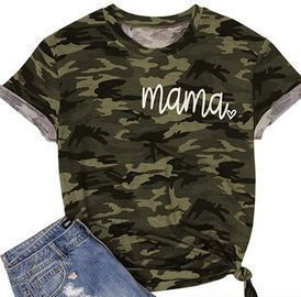 Camouflage Shirts for Moms