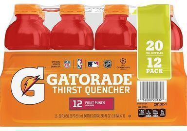 Gatorade Thirst Quencher, Fruit Punch, 20oz - Pack of 12