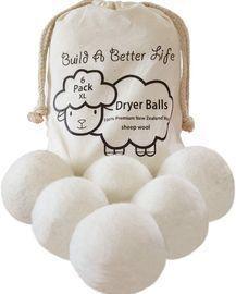 6 Pack of Wool Dryer Balls