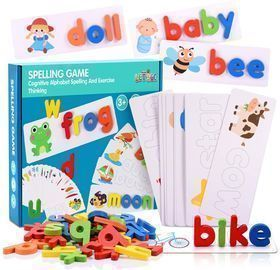 LET'S GO! See and Spell Learning Toys, Matching Letter Spelling Game