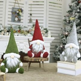 Santa Gnome Elf Decoration Ornament
