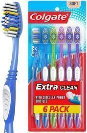 6 Count Colgate Extra Clean Toothbrushes