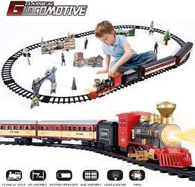 SNAEN Train Sets w/ Steam Locomotive Engine, Cargo Car and Tracks
