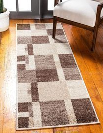 2' x 6' Unique Loom Light Brown Runner Rug