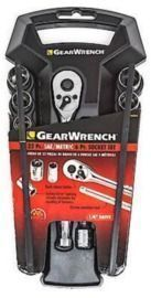 22-Piece Gear Wrench 1/4 Drive SAE/Metric Socket Wrench Set