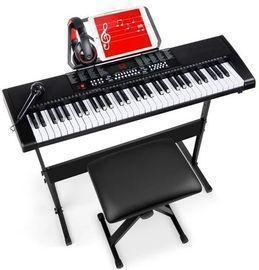 61-Key Beginners Electronic Keyboard Piano Set w/ 3 Modes & Microphone