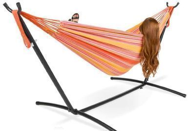 2-Person Brazilian-Style Double Hammock - Sunset Color