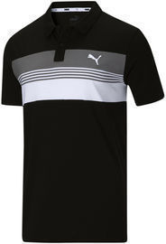 PUMA Men's Essential Sport Striped Jersey Polo (6 Colors)