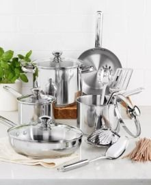 Tools of the Trade Stainless Steel 13pc Cookware Set
