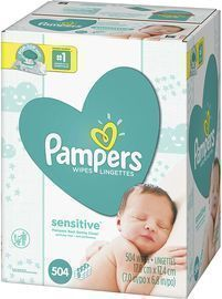 504 Count Pampers Sensitive Water Based Baby Diaper Wipes