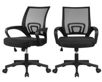 2 x Mesh Office Chair with Armrest