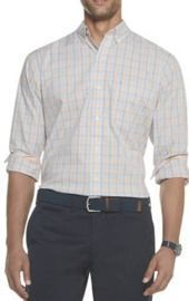 IZOD Men's Premium Essentials Stretch Plaid Button Down Shirt