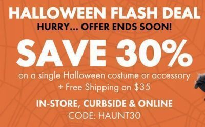 Party City - 30% Off Halloween Costumes / Accessories