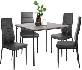 Ann Black High Back Upholstered Dining Chairs (Set of 4)