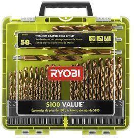 Ryobi 58pc Titanium Coated Drill Bit Set