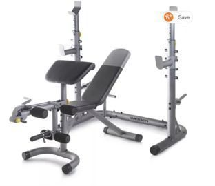Weider Olympic Workout Bench w/ Squat Rack