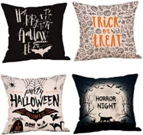 Set of 4 18x18 Halloween Pillow Covers