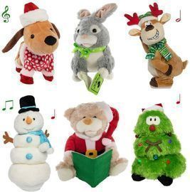 Plush Animated Stuffed Animal Light Up Christmas Collectible