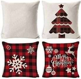 Set of 4  Christmas 18x18 Pillow Covers