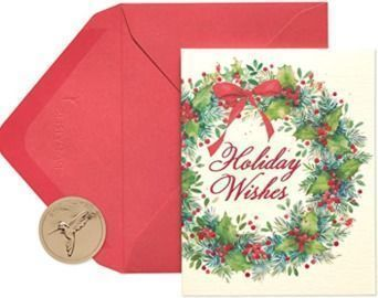 Papyrus Christmas Cards - Prelude Wreath Style