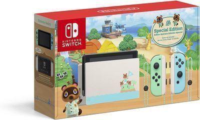 Nintendo Switch Console Animal Crossing New Horizons Edition