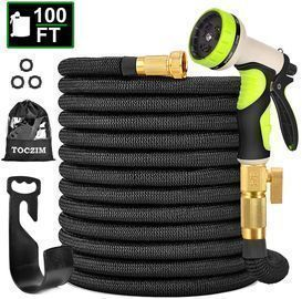 100ft New Expandable Garden Hose w/9 Function Spray Nozzle