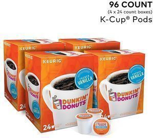Dunkin' Donuts French Vanilla Coffee K-Cup Pods, 96pk