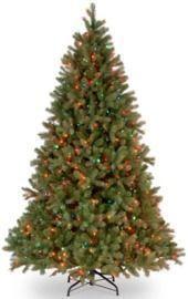 Downswept Douglas 7.5' Green Fir Artificial Christmas Tree w/ 750 Multi-Color Lights
