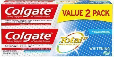 2pk of Colgate Total Whitening Toothpaste Gel - 4.8 ounce