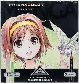 Prismacolor 1774800 Premier Colored Pencils + Sharpener
