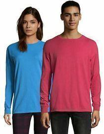 Hanes ComfortWash Long-Sleeve T Shirt (Unisex, Various Styles)