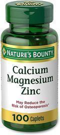 Nature's Bounty Calcium Magnesium & Zinc (100 Caplets)