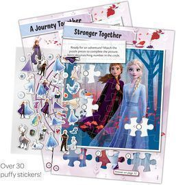 Disney Frozen 2 Coloring and 32-Page Activity Book with Puffy Stickers
