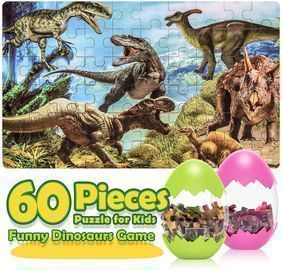 Dinosaur Jigsaw Puzzle in a Plastic Egg