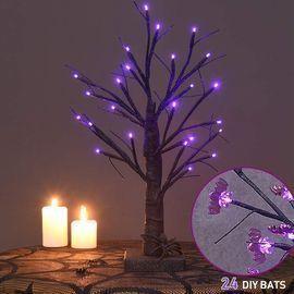 Twinkle Star 24 LED Birch Halloween Tree
