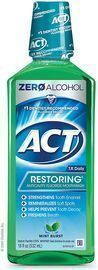 ACT 18oz Restoring Anticavity Fluoride Mint Burst Mouthwash
