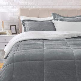 AmazonBasics Micromink Sherpa Comforter Set (Queen)
