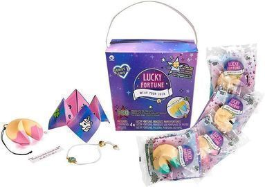 WowWee Lucky Fortune Blind Collectible Bracelets - 4 Pack Take-Out Box
