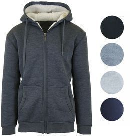 GBH Men's Heavy Weight Sherpa Lined Full-Zip Hoodie (3 Colors)