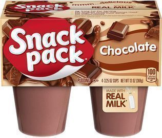 12 Pack of Snack Pack Chocolate Pudding Cups (4 per Pack)