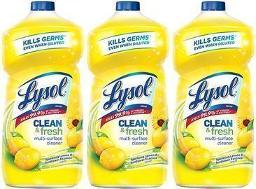 3pk of Lysol Clean and Fresh Multi-Surface Cleaner