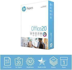 8.5x11 HP 20lb Printer Paper (1 Ream 500 Sheets)
