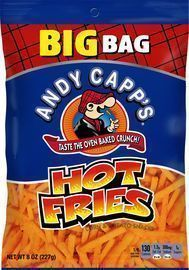 8 Pack of Andy Capp's Big Bag Hot Fries, 8 oz