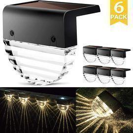 6 Pack of Solar Deck Lights