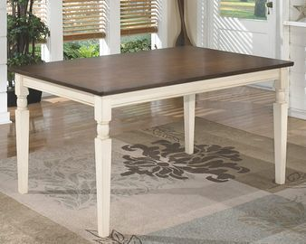 Signature Design Dining Room Table by Ashley Whitesburg (Brown/Cottage White)